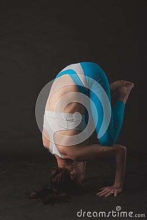 Free Beautiful Sporty Yogi Girl Practices Yoga Asana Royalty Free Stock Photos - 70079598