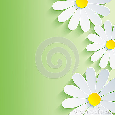 Free Beautiful Spring Abstract Background, 3d Flower Ch Royalty Free Stock Image - 32995096