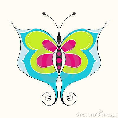 Beautiful spring butterfly