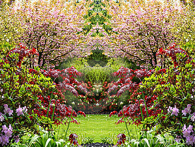Beautiful springtime garden