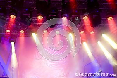Beautiful stage lighting