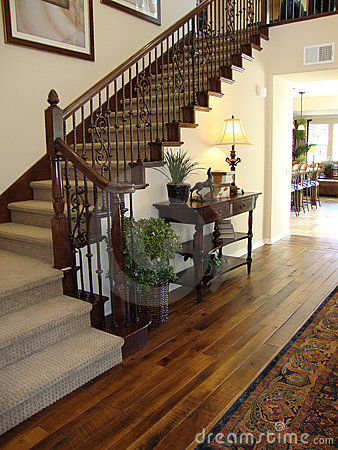 Beautiful Staircase and Entry