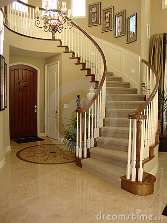 Beautiful Staircase with Mosaic Floor