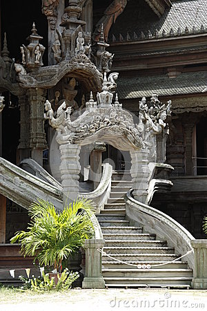Free Beautiful Stairs Of Thai Temple Royalty Free Stock Photography - 25434497