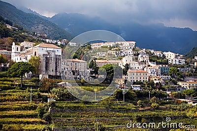 Beautiful steep village of Ravello