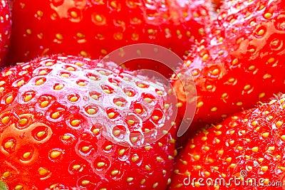 Beautiful strawberries close up