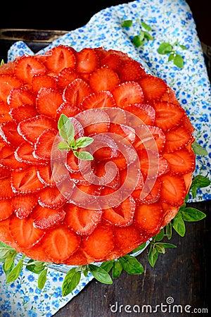 Beautiful strawberry cheesecake