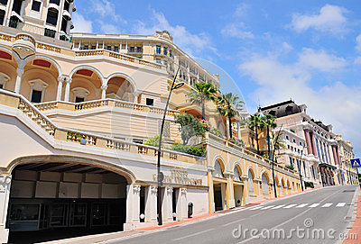 beautiful street buildings against sky in Monaco