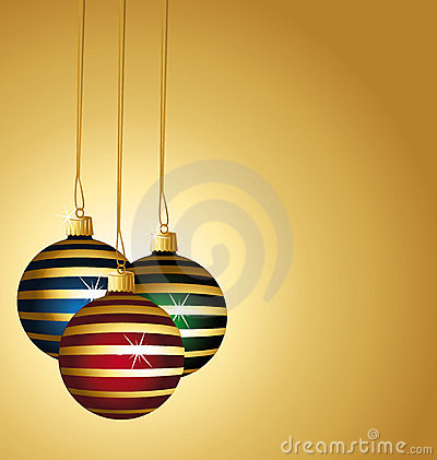 Beautiful striped christmas balls.