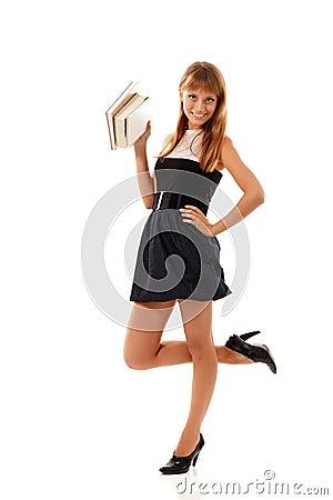 Beautiful student teenager girl friendly