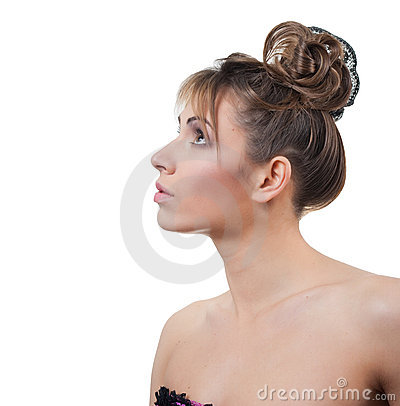 Beautiful studio portrait of young woman