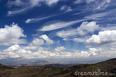 Beautiful summer cloudscape