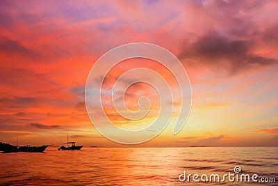 Sunset at Yucatan Peninsula Beach