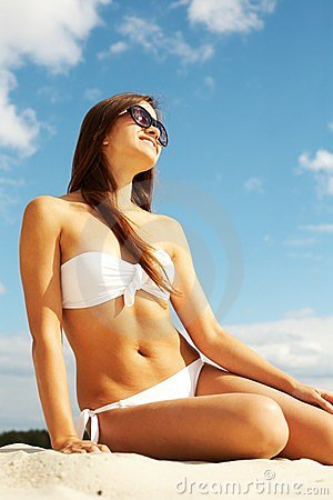Beautiful sunbather