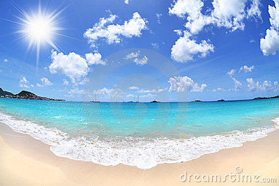 Beautiful, Sunny Day at a Tropical Beach