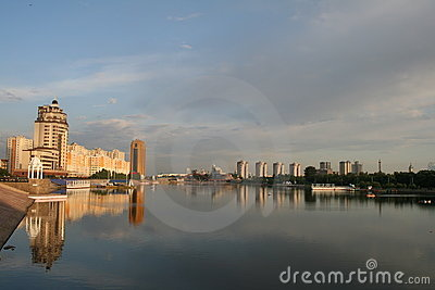 Beautiful sunrise in Astana