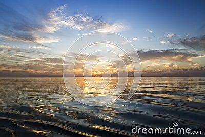 Beautiful sunrise over the sea. Stock Photo