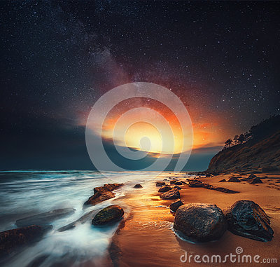 Free Beautiful Sunrise Over The Sea, Abstract Stock Photo - 96131670