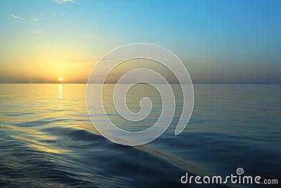 Beautiful sunrise under water.