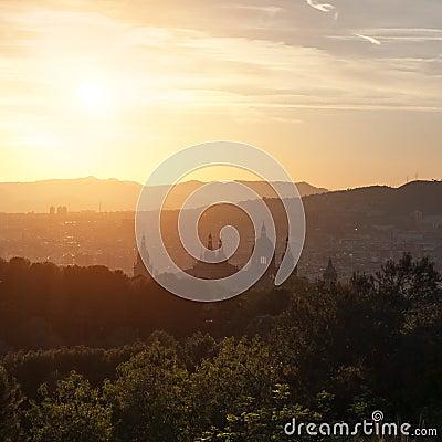 Free Beautiful Sunset On National Museum Stock Photos - 34936203