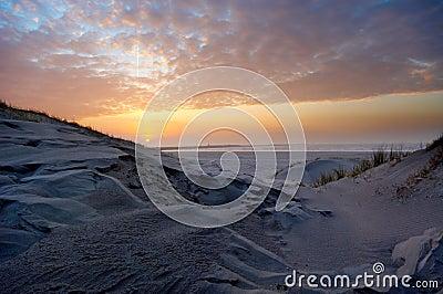 Beautiful sunset and sand dunes