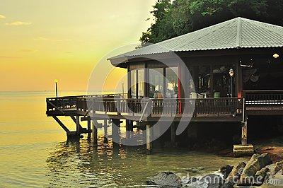 Beautiful sunset scenery Langkawi