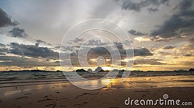 Beautiful sunset Tubkaak Beach,krabi,thailand