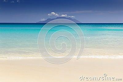 Beautiful surfing tropical sand beach
