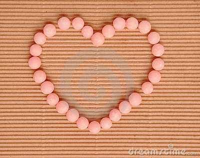 Beautiful sweet candies in heart shape