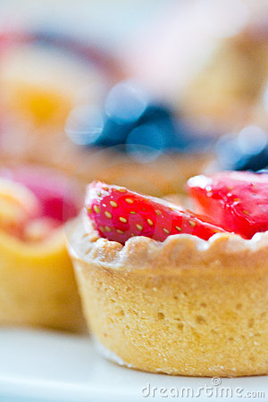 Beautiful sweet cupcakes with bokeh background