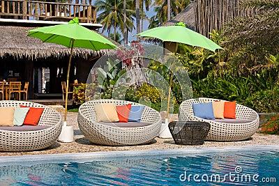 Beautiful swimming pool, Thailand .