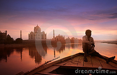 Beautiful Taj Mahal Editorial Photography