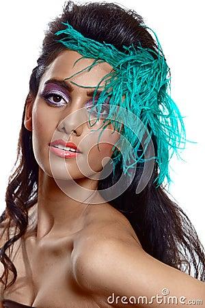 Beautiful tanned woman