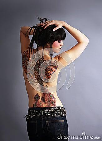 Free Beautiful Tattooed Woman Royalty Free Stock Photography - 8625157