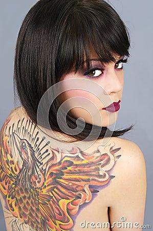 Free Beautiful Tattooed Woman Stock Images - 8635654
