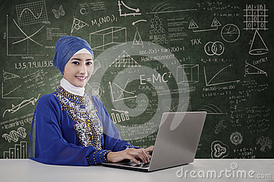 Beautiful teacher muslim