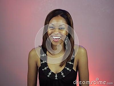 Beautiful Teen Girl Laughing