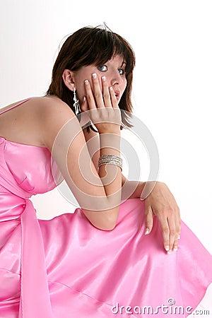 Beautiful Teen Girl In Pink Formal