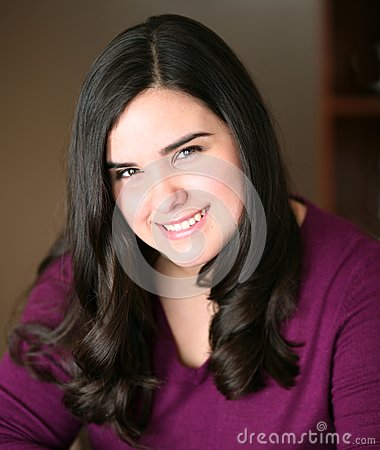 Beautiful teen hispanic girl smiling