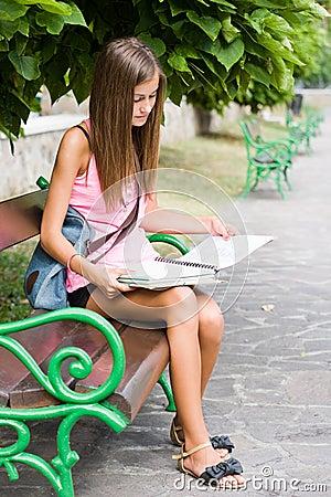 Beautiful teen student girl.