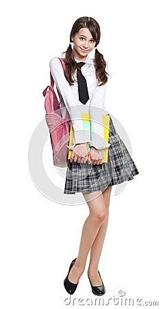 Beautiful teenage schoolgirl