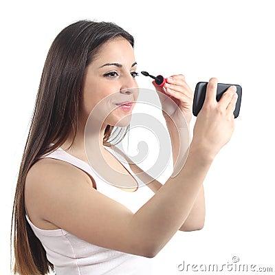 Free Beautiful Teenager Girl Making Up Royalty Free Stock Images - 31201249