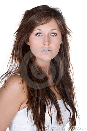 Beautiful Teenager with Long Brown Hair