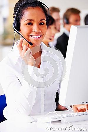 Beautiful telephone operator