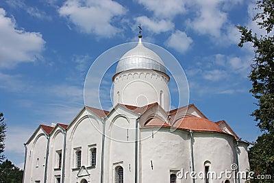 Beautiful temple in city Great Novgorod