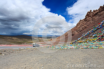 Beautiful tibet landscape