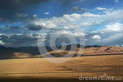 Beautiful tibetan plateau