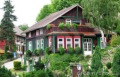 Beautiful Timber house at Wernigerode, Germany