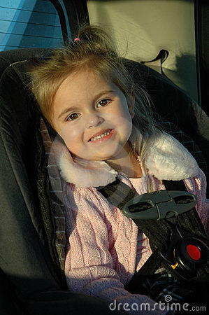 Beautiful Toddler in Car Seat