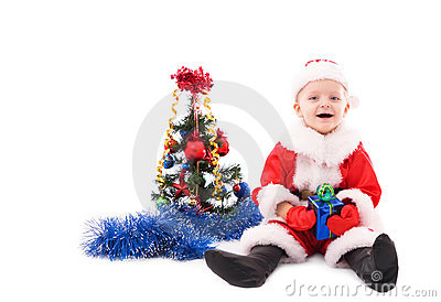Beautiful toddler Santa